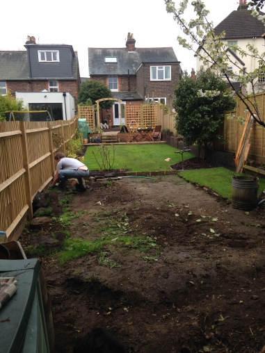 Sectioning off the bottom of the garden for the chickens