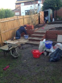 Building the patio